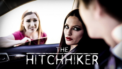 THE HITCHHIKER COUPLE PICK UP NAIVE TEEN ON THE ROAD AND REVENGE FUCK HER SCENE